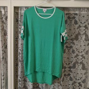 Green Varsity Stripe Tunic Top | LuLaRoe Irma